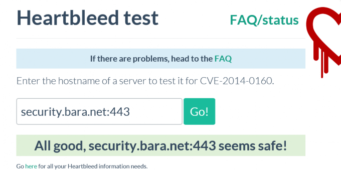 heartbleed test result